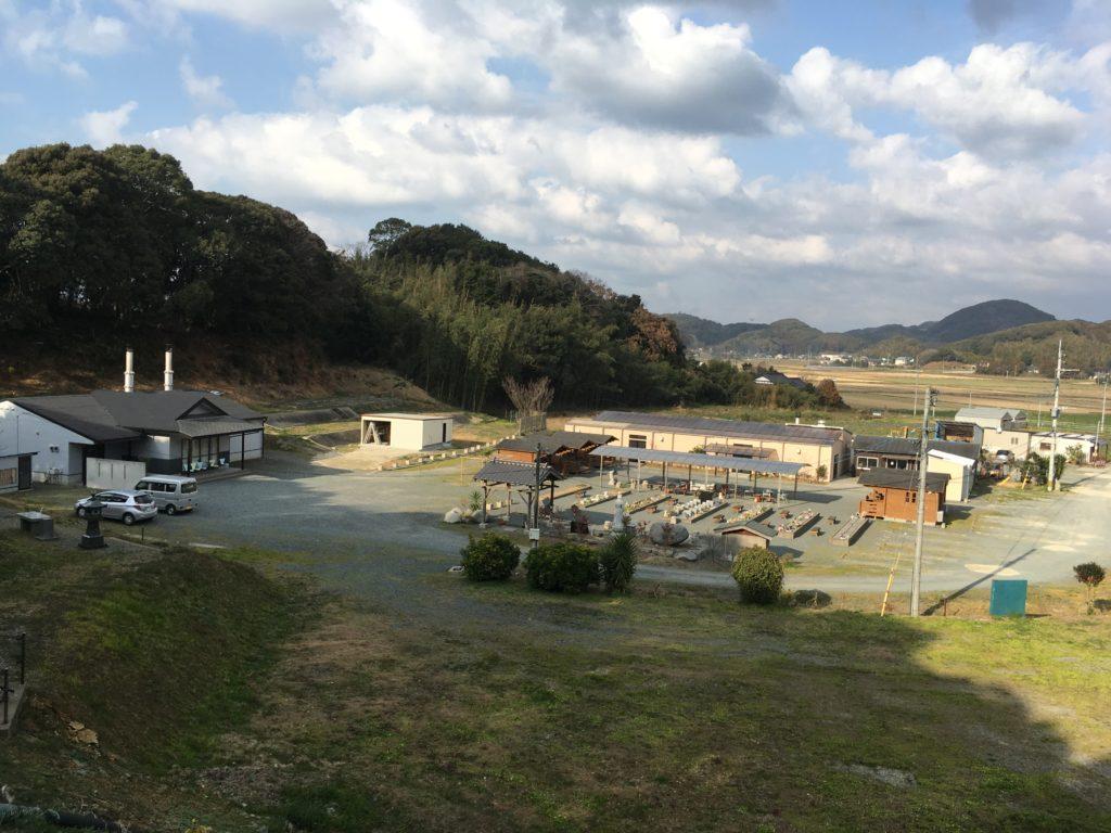 ペット霊園 動愛園を高台から撮影した写真です